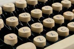 Vintage typewriter keys. Royalty Free Stock Photos