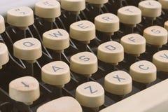Vintage typewriter keys. Royalty Free Stock Image