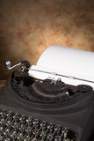 Vintage typewriter with letter Royalty Free Stock Photography