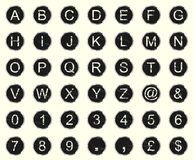 Vintage Typewriter Letters Royalty Free Stock Photos