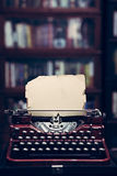 Vintage typewriter in a library Stock Image