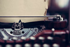 Vintage typewriter in a library Royalty Free Stock Image