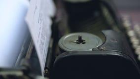 Vintage typewriter mechanism closeup, retro technologies, publishing business. Stock footage stock footage