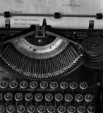 Vintage typewriter message Stock Photography