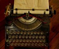 Vintage typewriter message Stock Photo