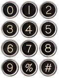 Vintage Typewriter Number Keys Stock Images