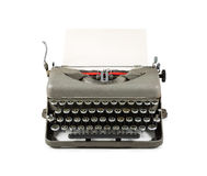 Vintage typewriter with paper isolated on white background Royalty Free Stock Image
