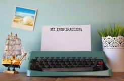 Vintage typewriter with phrase: MY INSPIRATION Royalty Free Stock Photo