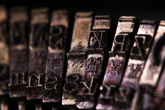 The Vintage Typewriter some character or letter macro style Royalty Free Stock Photography