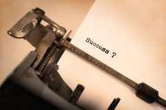 Vintage typewriter - Success Royalty Free Stock Images
