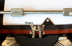 Vintage typewriter with a text Royalty Free Stock Images