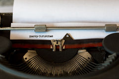 Vintage typewriter with a text Stock Image