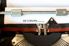 Vintage typewriter with a text Royalty Free Stock Image