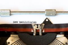 Vintage typewriter with a text Royalty Free Stock Photo