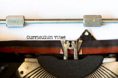 Vintage typewriter with a text Stock Photography