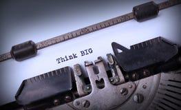 Vintage typewriter - Tink big Royalty Free Stock Images