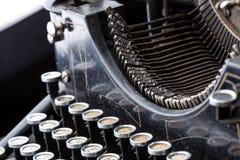 Vintage typewriter type bars closeup royalty free stock photos