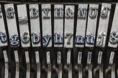 Vintage Typewriter Typebars Extreme Macro Royalty Free Stock Image