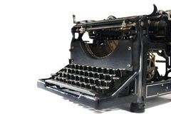 Vintage Typewriter on White Royalty Free Stock Photos