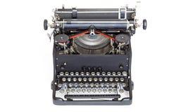 Vintage typewriter on white Royalty Free Stock Photo