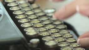Vintage Typewriter stock video footage