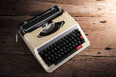 Vintage typewriter on wooden table Royalty Free Stock Image