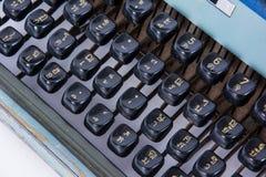 Vintage typewriting machine keys Thai font Stock Image