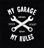 Vintage typographic biker or auto repair shop Royalty Free Stock Images