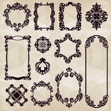 Vintage typographic element collecton Royalty Free Stock Photos