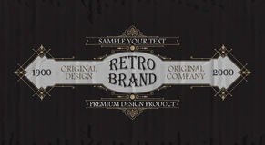 Vintage typographic label premium. Vector Royalty Free Stock Images