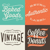 Vintage Typographic Labels Royalty Free Stock Images
