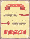 Vintage typography Background. Vector illustration Royalty Free Stock Images