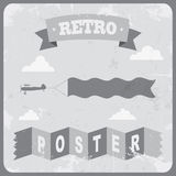 Vintage typography Background. Vector illustration Royalty Free Stock Photos
