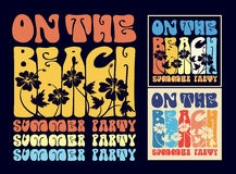 Vintage typography on the beach design Stock Photography