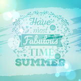 Vintage typography lettering with floral ornaments and blurred background Royalty Free Stock Photo