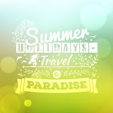 Vintage typography lettering summer design and blurred background Royalty Free Stock Photography