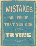 Vintage typography Royalty Free Stock Photography