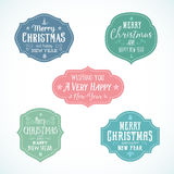 Vintage Typography Soft Color Christmas Vector Stock Photography