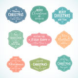 Vintage Typography Soft Color Cute Christmas Stock Photos