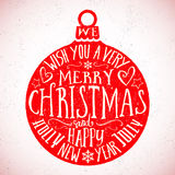 Vintage Typography Vector Christmas Card Royalty Free Stock Photos