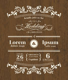 Vintage typography Wedding invitation design Royalty Free Stock Photo