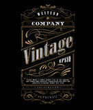 Vintage typography western frame label border vector Royalty Free Stock Photos