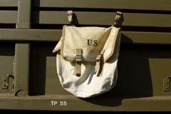 Vintage U.S. millitary satchel. Royalty Free Stock Photos