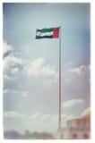 Vintage UAE flag Royalty Free Stock Images