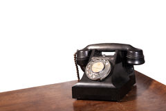GPO 332 vintage telephone - isolated on white. Vintage UK General Post Office 332 Director Telephone (Handset Micro Telephone) circa 1946 Royalty Free Stock Image