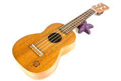 Vintage ukulele. Image vintage ukulele on white Royalty Free Stock Photo