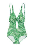 Vintage um swimsuit da parte Imagem de Stock