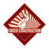 Vintage under construction Royalty Free Stock Photos