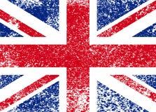 Vintage Union Jack, bandera del grunge de Gran Bretaña, ejemplo ilustración del vector