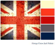 Vintage Union Jack Palette Royalty Free Stock Photos